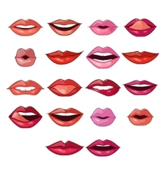 Lips Expressions and Shapes vector image