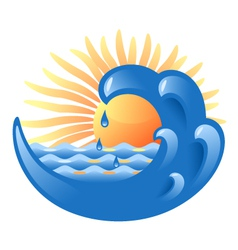Sun and Sea vector image vector image