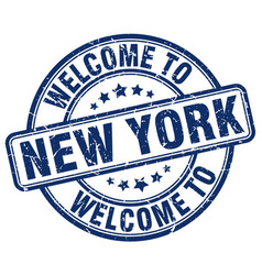 welcome to new york vector image vector image