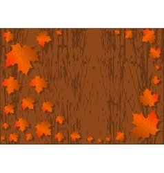 Autumn maple leaves background colorful maple vector image