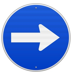 Blue Roadsign Pointing Right vector image vector image