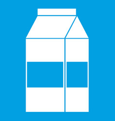 box of milk icon white vector image vector image