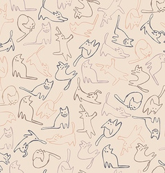 Cats pattern vector image