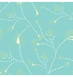 Leaves seamless whimsical pattern vector image vector image