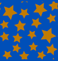 seamless pattern with gold stars vector image vector image