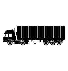 silhouette truck trailer container delivery cargo vector image vector image