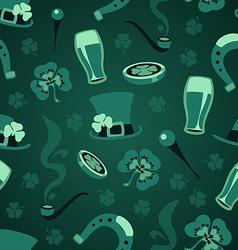 st patricks days green symbols pattern vector image