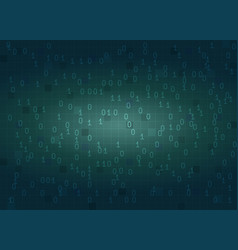 abstract binary code digital background vector image vector image