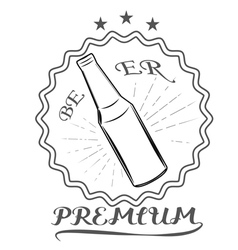 beer lager premium logos and Images vector image