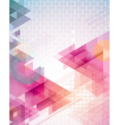 Sunset Triangles vector image vector image
