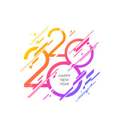 2020 new year logo with abstract geometric shapes vector