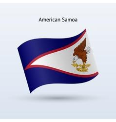 American Samoa flag waving form vector