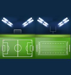 arena stadium scene banner set realistic style vector image