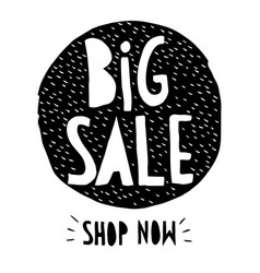 big sale hand drawn discount symbol vector image