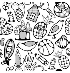 Black and white wallpaper for coloring book vector