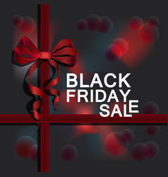 black friday advert on dark grey background vector image
