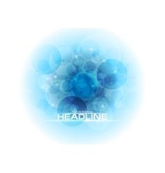 Bright blue tech geometric circles background vector image