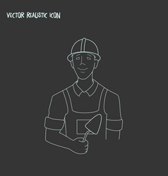 builder icon line element of vector image
