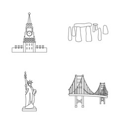 Building interesting place coliseum countries vector