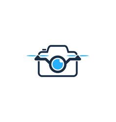 camera drone logo icon design vector image