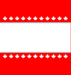 Canadian flag symbolism ribbon maple leaf frame vector