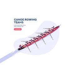 canoeist character vector image