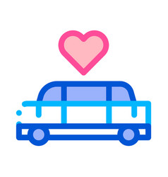 car limousine for wedding ceremony icon vector image