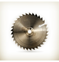 Circular saw blade old style vector