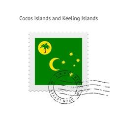 Cocos Islands and Keeling Islands Flag Postage vector
