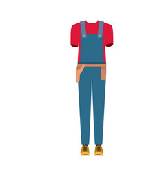 Colorful silhouette with male uniform of worker vector