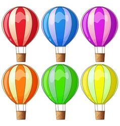 Colourful hot-air balloons vector