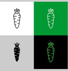 daikon radish thin linear simple icon side view vector image