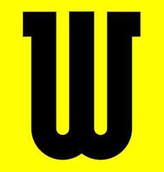 Dark modern font trendy alphabet black letter vector