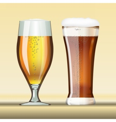 Digital glass of brown beer vector