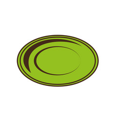 dish plate tool kitchen image vector image