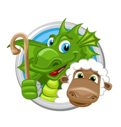 Dragon aries zodiac sign vector