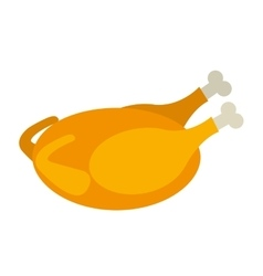 easter turkey food isolated icon vector image