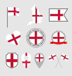 england flag icons set national flag england vector image