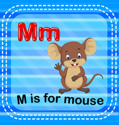 flashcard letter m is for mouse vector image
