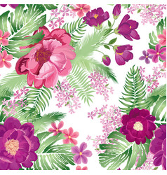 Floral seamless pattern spring flower rose vector