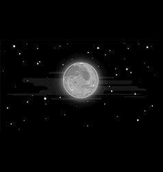 full moon in night sky vector image