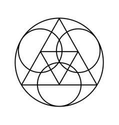 Geometrical figures design vector
