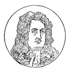 George i king of england vintage vector