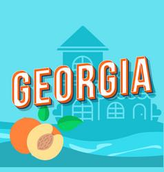 Georgia vintage 3d lettering retro bold font vector