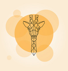 Giraffe head geometric lines vector