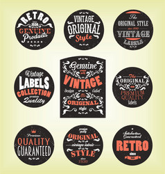 Grunge retro labels vector