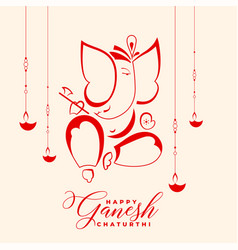 Happy ganesh chaturthi indian festival background vector