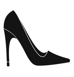 High heel shoe icon simple style vector
