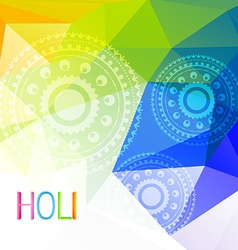 Indian holi festival vector