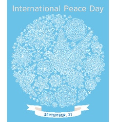 International Peace Day background vector image